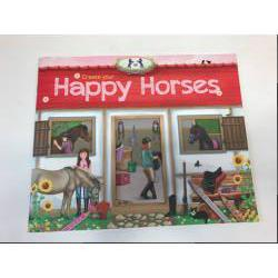 Happy Horses книжка с наклейками