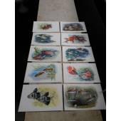 почтовые цветные открытки с изображением рыбок
