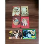 карманный календарик с изображением кошек